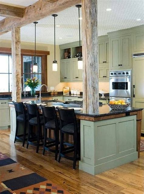 kitchen island with columns load bearing wall dream home perfect way to support that load bearing wall that you