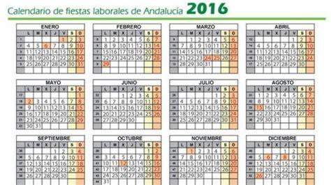 Calendario Laboral 2016 Por Semanas Calendario Laboral 2016 Festivos Laborables Puentes