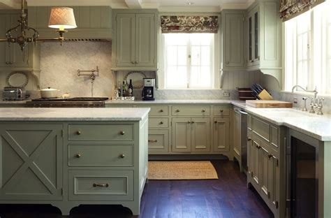 Gray Green Kitchen Cabinets | green gray cabinets traditional kitchen warmington