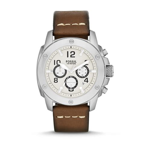 Fossil Modern Machine Brown Leather Fs4929 fossil modern machine chronograph leather brown fs4929 fossil 174