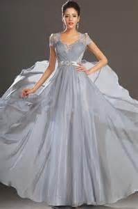 wedding evening dresses v neck lace chiffon cap sleeve evening gown wedding formal prom dress 2051485 weddbook