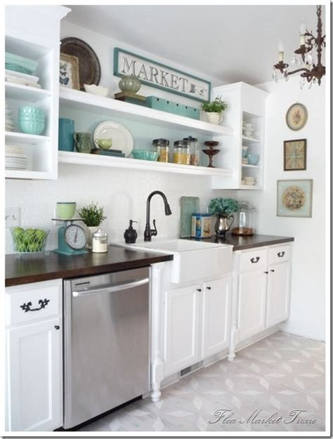 open shelves in kitchen ideas open shelving in the kitchen town country living