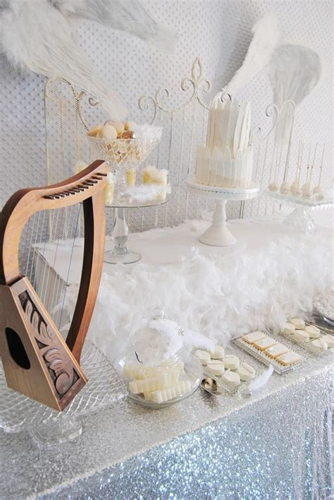 Angel Wings Baby Shower Cake     Angel party ideas and