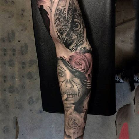 dead roses tattoos day of the dead sleeve www pixshark images
