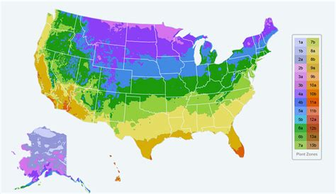 planting zone map usa planting zones map find your plant hardiness growing zone