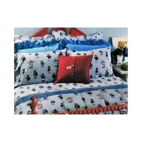 buy new ralph lauren teddy bear stripe king sheet set