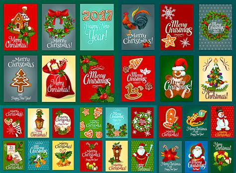 christmas cards vector   clipart  ai eps format vectorpicfree