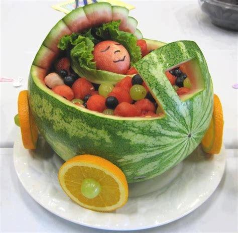 Watermelon Crib For Baby Shower Comida Divertida Para Babyshower Carricoche De Ni 241 Os Hecho Con Frutas Comidas Divertidas