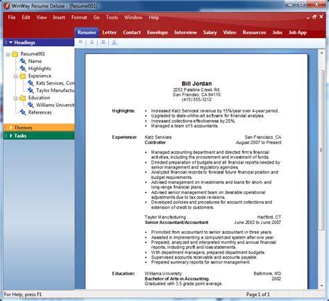 Winway Resume Deluxe 14 by Winway Resume Deluxe 14 Resume Ideas
