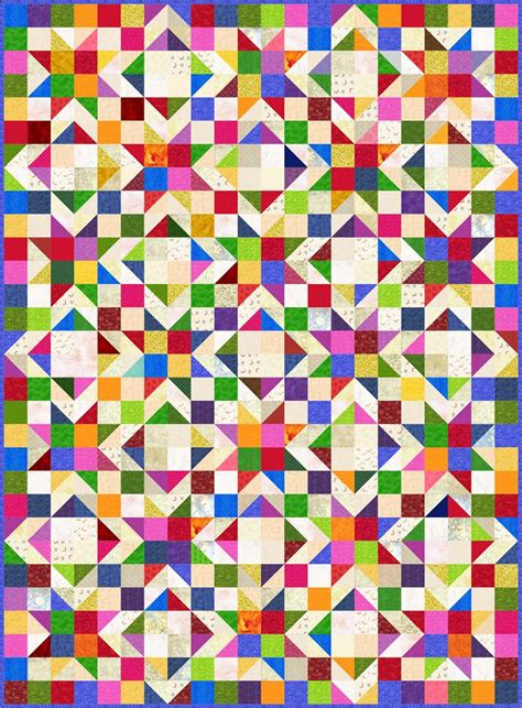 Ideas Design For Colorful Quilts Concept Light Bright Quilt Pattern Sp 116 Beginner