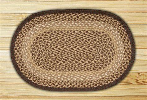 oval jute rug oval chocolate and jute braided earth rug 174