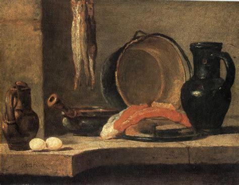 The Kitchen Jean Baptiste Simeon Chardin Still With Herrings Jean Baptiste Simeon Chardin