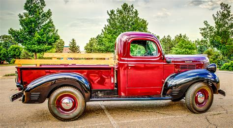 dodge truck car 1945 dodge half ton pickup truck classic car photography