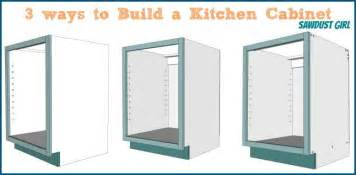 How To Build Kitchen Cabinets three ways to build a basic kitchen cabinet sawdust girl 174