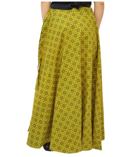 Wrap Around Green Cotton Wrap Around Bottle Skirt General Category