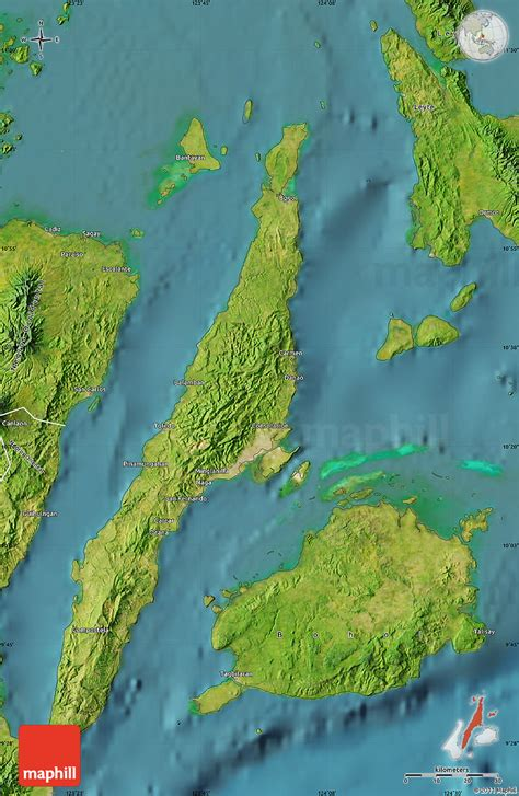 map philippines satellite satellite map of cebu