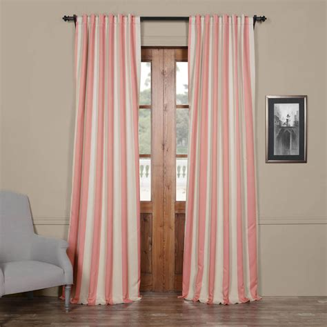blackout curtains striped blush cream striped blackout curtain