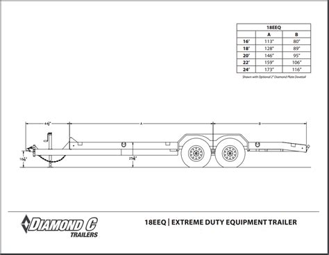 standard boat trailer axle width diamond c equipment trailers