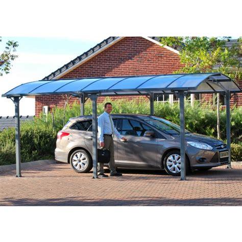 tepro carport tepro palram aluminium carport einzelcarport arcadia 5000