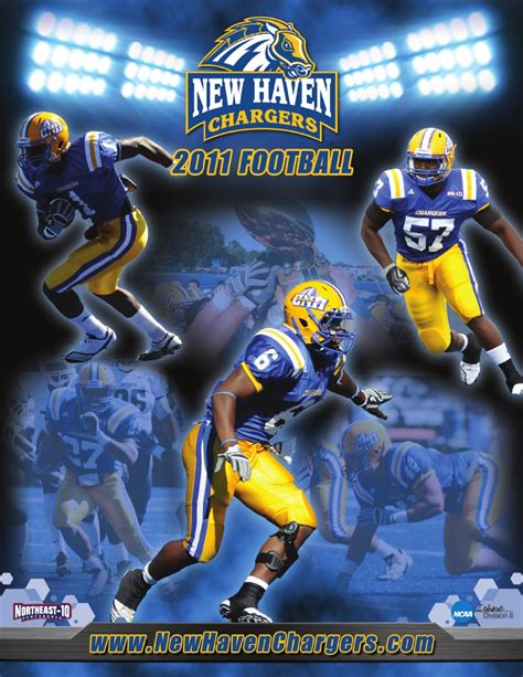 unh chargers football 2011 new football media guide by new chargers