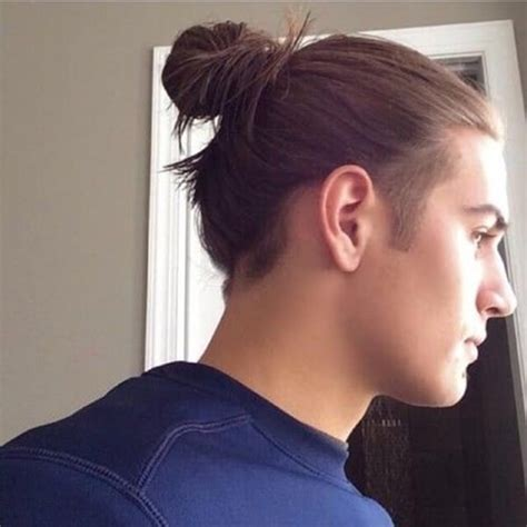 shave sides man bun 59 sexy man bun hairstyles you need to try immediately