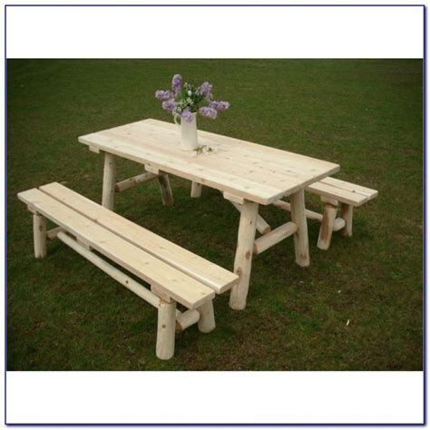 picnic table plans detached benches picnic table with benches plans free bench home