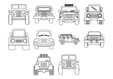 jeep icon free jeep icon vector download free vector art stock