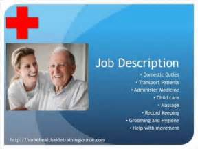 home health aide salary home health aide description and salary