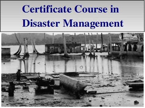 Mba In Disaster Management Syllabus certificate course in disaster management careerindia