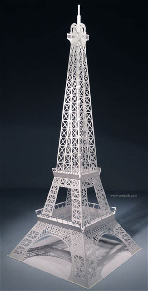 eiffel tower pop up card template pdf the eiffel tower pop up card origami architecture kirigami