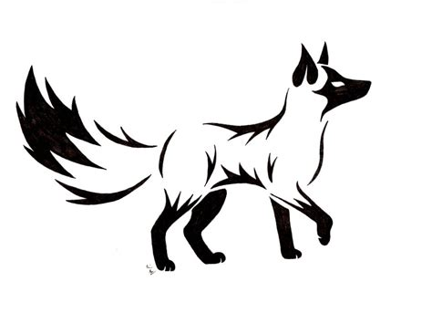 cool tribal fox designs to draw free download clip art