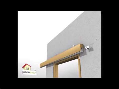 montare una porta scorrevole porta scorrevole esterno muro montaggio doovi