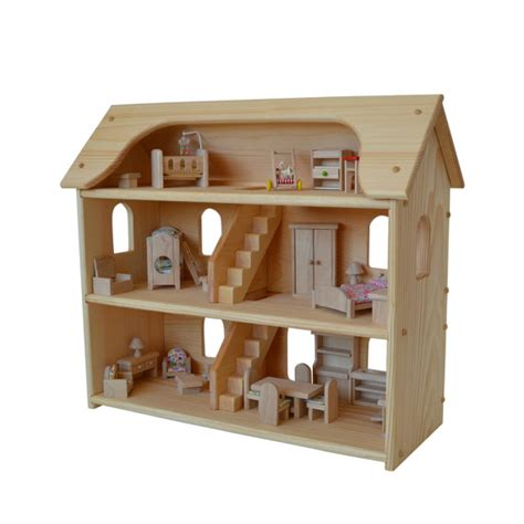 Handcrafted Dollhouse - handcrafted wooden dollhouse set waldorf