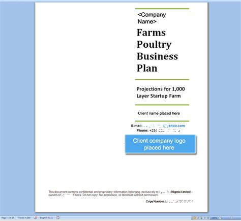 poultry business plan template no 161 to succeed be prepared to deliver a smart