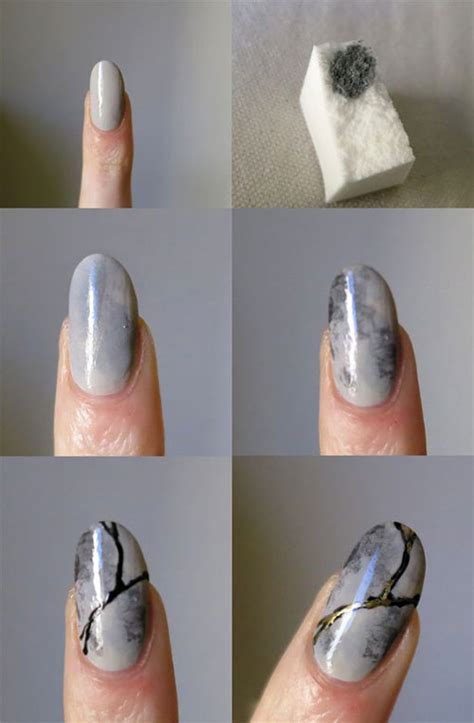 tutorial nail art marble easy step by step marble nails art tutorials for beginners