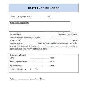 Modele De Quittance De Loyer A Imprimer Gratuitement