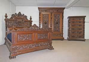 Ashley Furniture Bedroom Sets On Sale victorian carved oak antique bedroom set full size bed