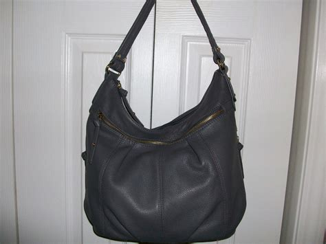 Clark Leather Hobo clark gray pebble leather hobo made by tignanello handbags purses