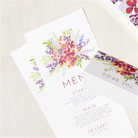 I Do Wedding Stationery by Secret Garden Menu Says I Do