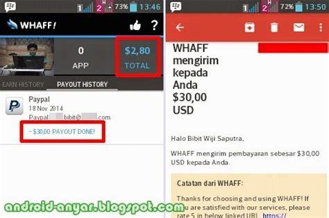 Cara Membuat Paypal Di Whaff | cara mengambil pembayaran dari whaff paypal withdraw