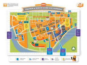 a m football parking map orange and white what to before you go