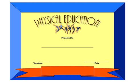 free educational certificate templates physical education certificate template 7 the best