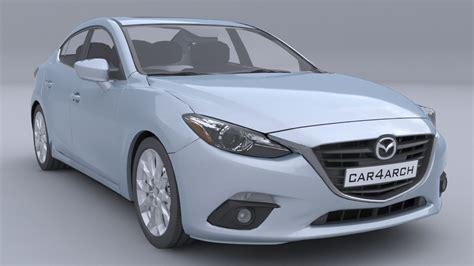 mazda sedan models mazda 3 sedan car4arch vol1 3d model max obj 3ds fbx
