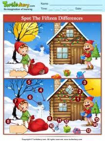 printable christmas spot the difference games spot the difference elf worksheet turtle diary