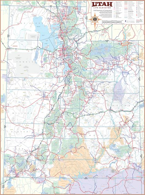 map of utah cities large detailed tourist map of utah with cities and towns