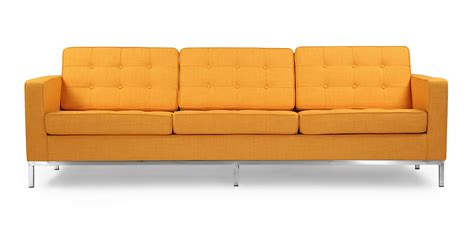 florence knoll sofa ebay florence knoll style sofa 3 seat citrus pop vintage