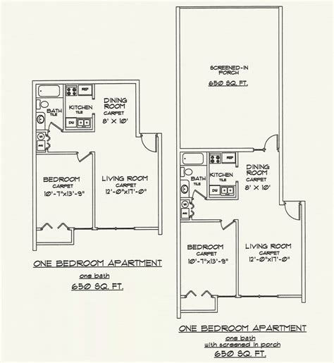 650 sq ft apartment floor plan floor plans 171 villa ravine apartments