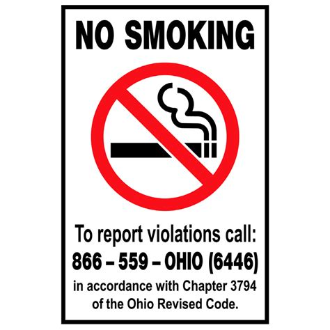 no smoking sign lowes shop hillman sign center 12 in x 8 in smoking ohio sign