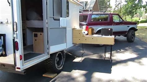 Camping Kitchen Ideas by Off Road Cargo Trailer Conversion Amp Slide Out Kitchen