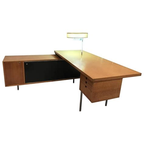 george nelson for herman miller executive desk with l